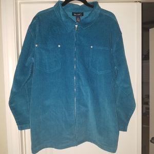 Denim & Co corduroy zipper jacket